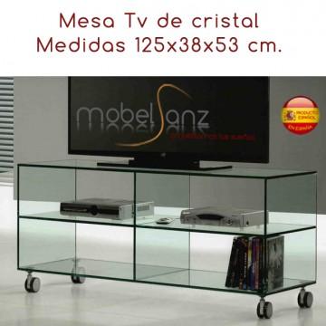 MESA DE TELEVISIÓN DE CRISTAL DE 125