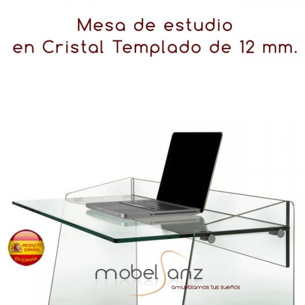 Mesa escritorio moderna de ordenador de cristal templado for Mesa cristal templado ikea