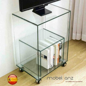 Mesa tv cristal templado