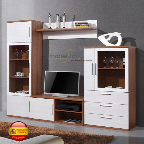 Mueble de salon apilable moderno for Mueble salon 180 cm