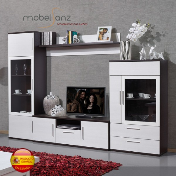 Composicion mueble de salon apilable modular moderno for Mueble auxiliar salon moderno