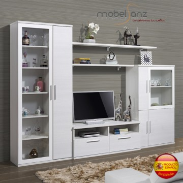 Mueble de salon apilable modular moderno for Mueble salon 240 cm