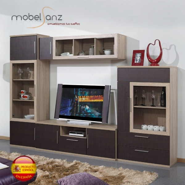 Composicion mueble de salon apilable modular moderno for Mueble apilable salon