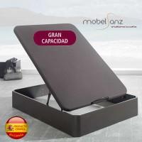 CANAPÉ ABATIBLE DE MADERA + TAPA 3D DE GRAN CAPACIDAD