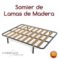 SOMIER DE LAMAS MADERA CRETA