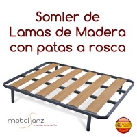 SOMIER LAMAS DE MADERA CÓRDEGA
