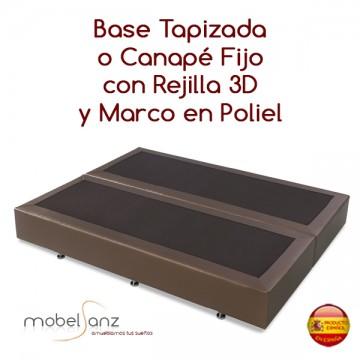 BASE TAPIZADA EN REJILLA 3D CON MARCO EN POLIPIEL