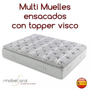 COLCHÓN MULTI-MUELLES ENSACADOS + VISCO
