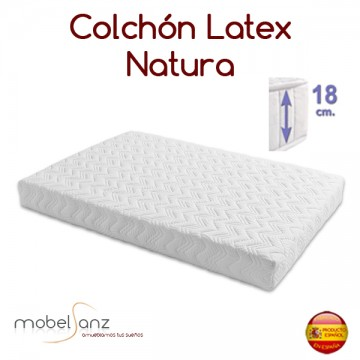COLCHÓN LÁTEX NATURA DE 18 cm.