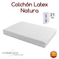 COLCHÓN LÁTEX NATURA DE 21 CM.