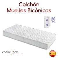 COLCHÓN DE MUELLES BICÓNICOS CON ARO ESTABILIZADOR