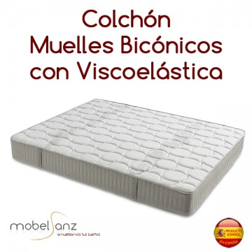 COLCHÓN DE MUELLES CON VISCOELÁSTICA