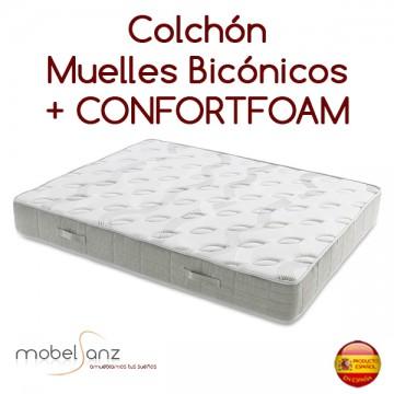 COLCHÓN DE MUELLES BICÓNICOS Y COMFORTFOAM