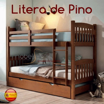 LITERA JUVENIL EN PINO NOGAL