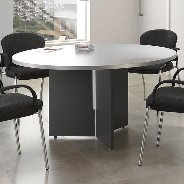 Mesa de reuniones redonda de madera for Mesas para oficina precios