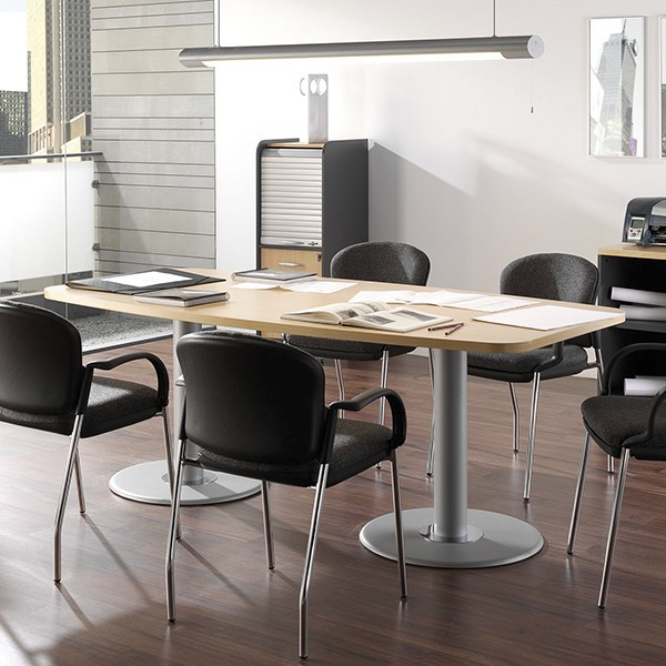 Mesa de reuniones c ncava muebles mobelsanz for Mesa reuniones diseno