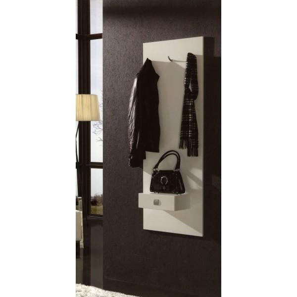 Recibidor entradita con perchero y cajon moderno for Mueble perchero recibidor