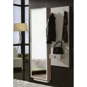 Zapatero recibidor con espejo moderno for Espejos grandes para recibidor