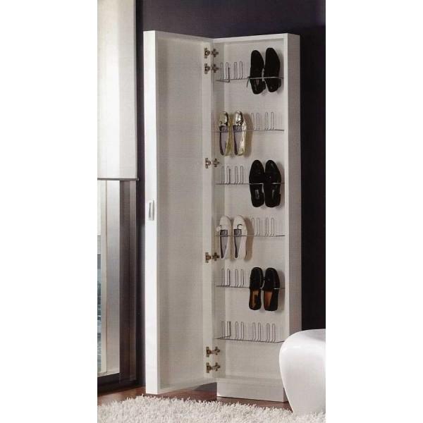 Zapatero recibidor con espejo moderno for Modelos de zapateros de madera