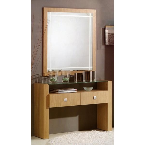 Recibidor entrada moderno en con cajones for Recibidores modernos con espejos