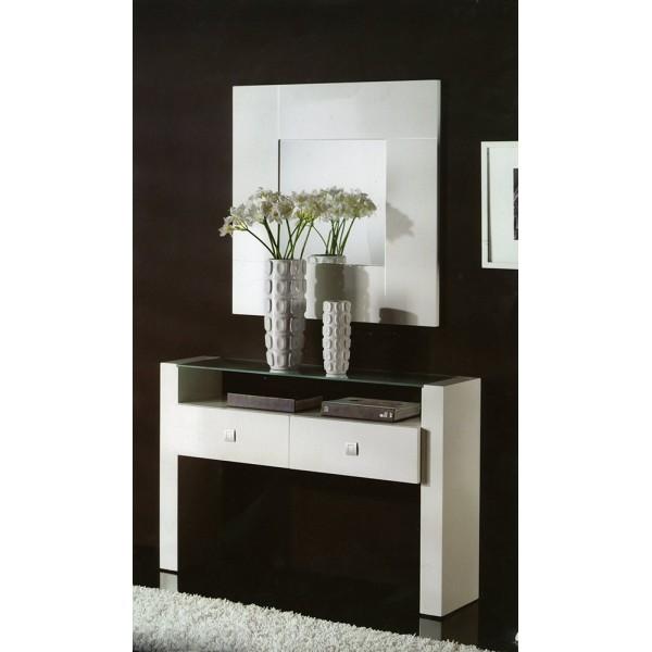 Recibidor con espejo mobelsanz for Espejos de diseno para recibidor