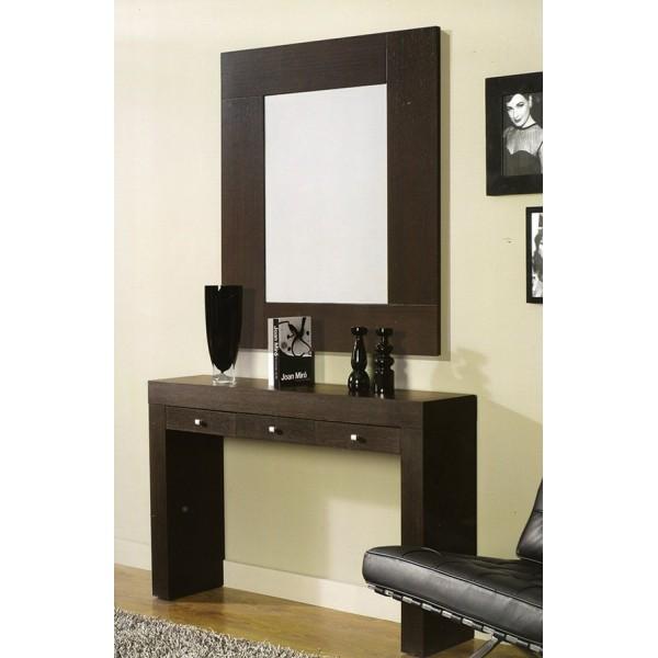 Consala recibidor con cajones muebles mobelsanz for Espejos de salon conforama