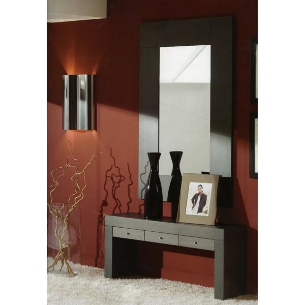 Recibidor con espejo muebles mobelsanz - Espejos recibidores modernos ...