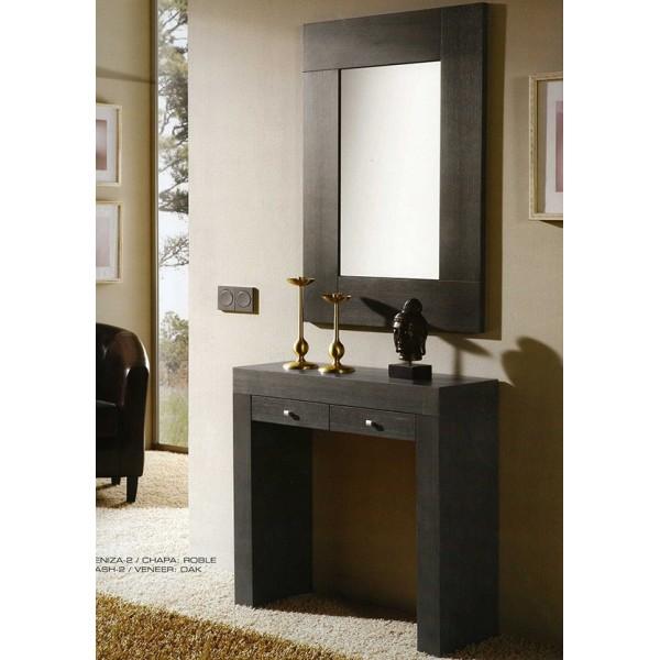 Recibidor con espejo muebles mobelsanz for Espejos minimalistas