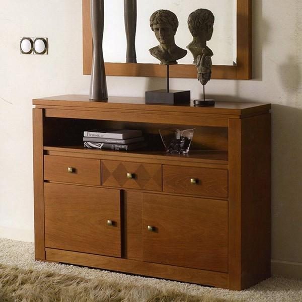 Recibidor entrada taquillon con espejo clasico moderno - Taquillones de entrada ...