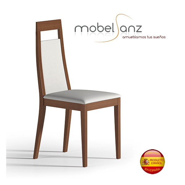 Silla de salon moderna en madera for Ofertas sillas salon