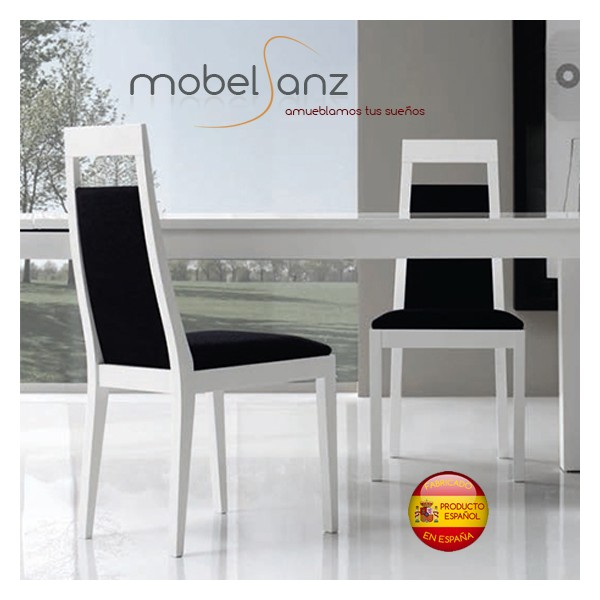 Silla de salon moderna en madera for Sillas salon modernas