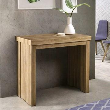Mesa consola extensible de salon en melamina for Mesa consola extensible ikea