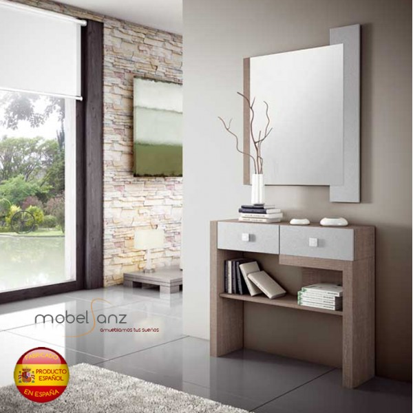 Espejo de pared moderno para recibidor o habitacion for Espejos de diseno para recibidor