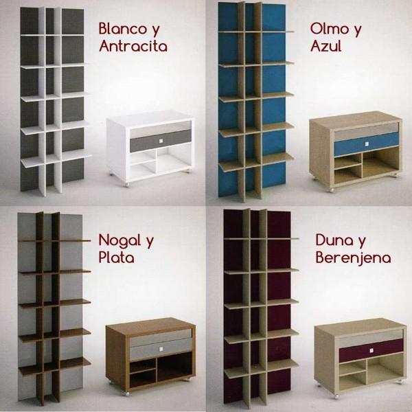 Estanteria libreria moderna de pared en madera - Libreria de pared ...