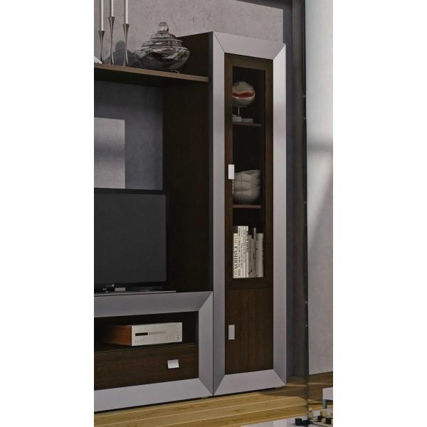 Vitrina moderna con puerta de cristal for Vitrinas salon modernas