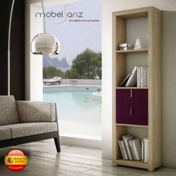 Estanteria libreria moderna alta en madera - Librerias estanterias modernas ...