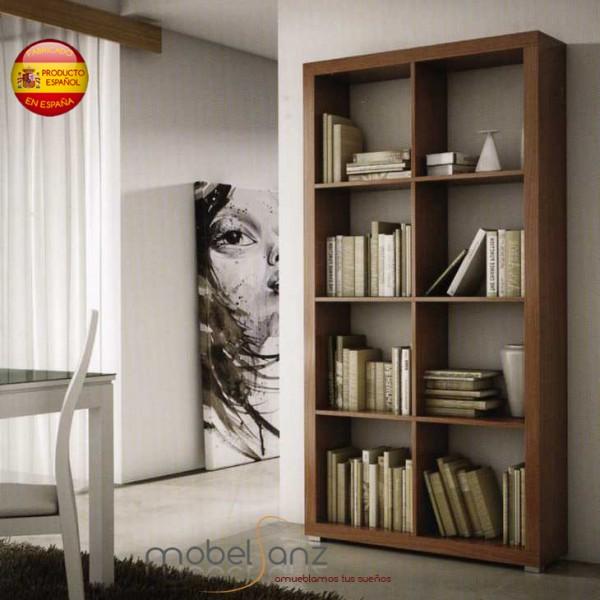 Estanteria libreria separadora moderna for Librerias salon modernas