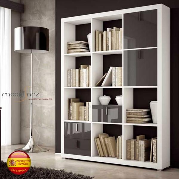 Libreria estanteria separadora moderna - Estanterias originales de pared ...
