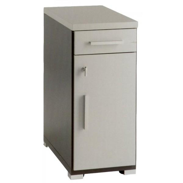 Modulo armario auxiliar para cpu con puerta for Mueble para cpu