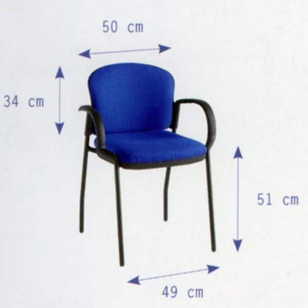 silla oficina de reuniones o de sala de espera con patas