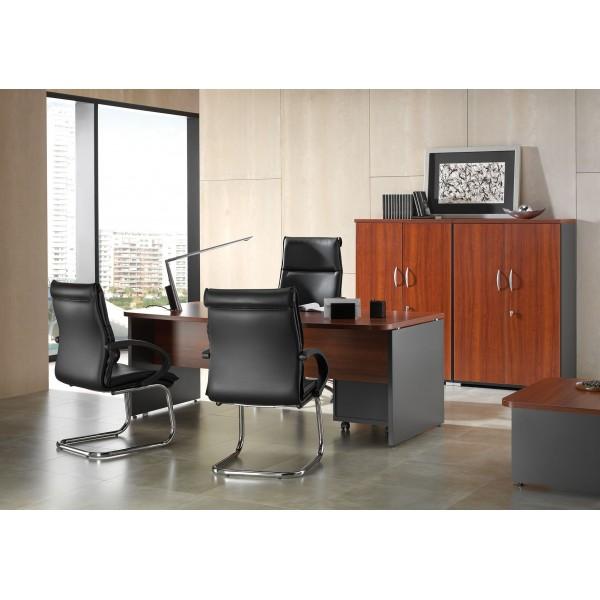 Mesa de oficina o estudio de madera for Mesas de despacho