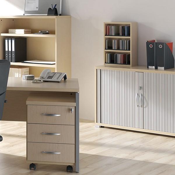 Armario Tok Stock ~ Libreria armario de oficina con persiana corredera
