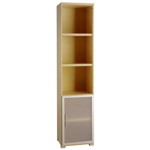 Libreria estanteria mixta de oficina con puerta de - Puertas para estanterias ...