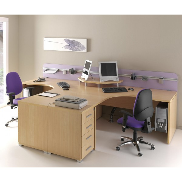 mesa de oficina o estudio de madera angular