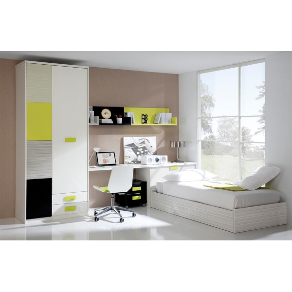 Cama nido juvenil con arcon canape abatible lateral for Cama nido con arcon