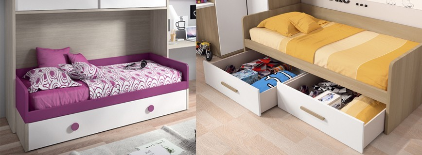 Camas nido juvenil muebles mobelsanz for Camas compactas desplazables