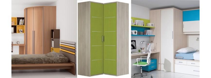 Armarios de rincon muebles mobelsanz for Armarios juveniles puertas correderas