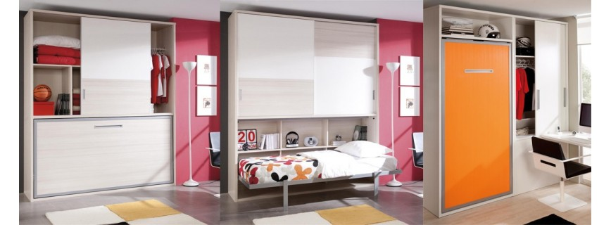 Camas abatibles juveniles muebles mobelsanz - Muebles cama plegables para salon ...
